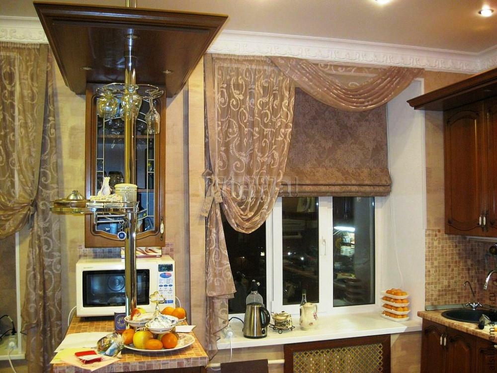 Шторы для кухни в интерьере фото