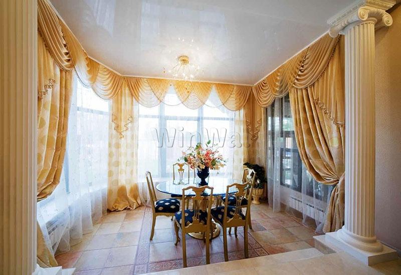 Дизайн окон в частном доме фото шторы