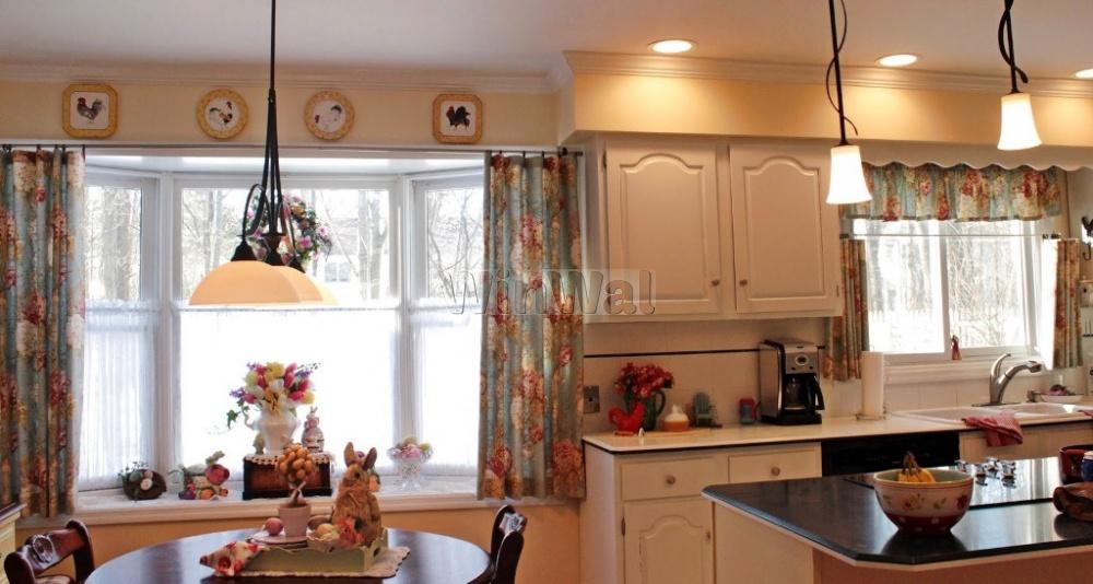 кухонные шторы до подоконника фото