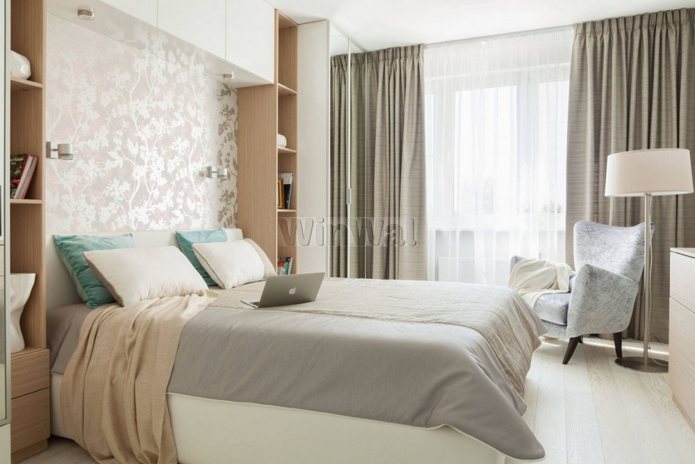 Шторы для спальни  серые