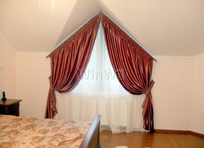 шторы на косое окно фото
