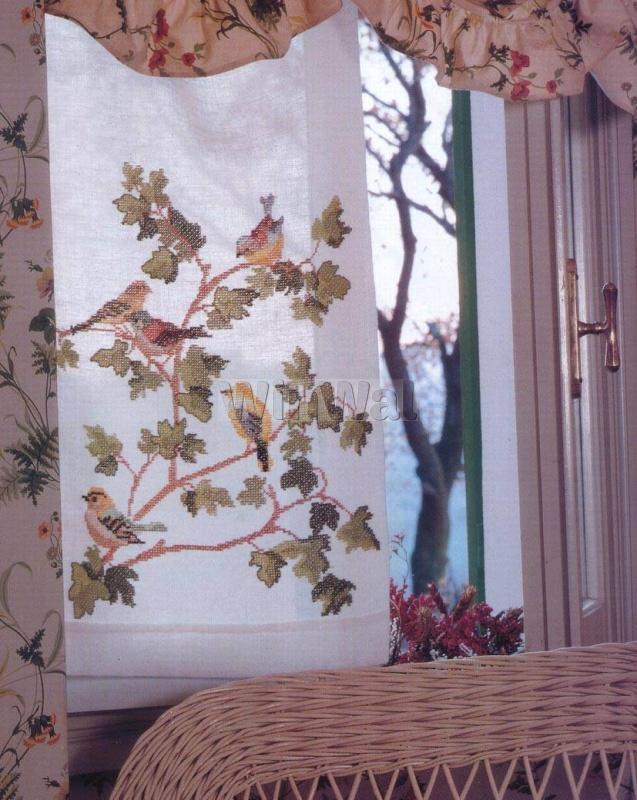 Вышивка на шторе своими руками
